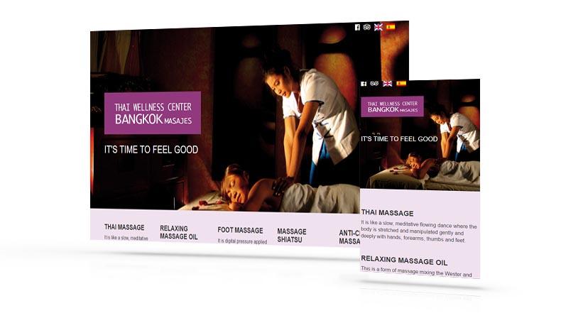 Diseño web Más que Mapas, Bangkok Massage Tenerife