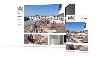 Diseño web Más que Mapas, Barbosa Reformas y Construcciones
