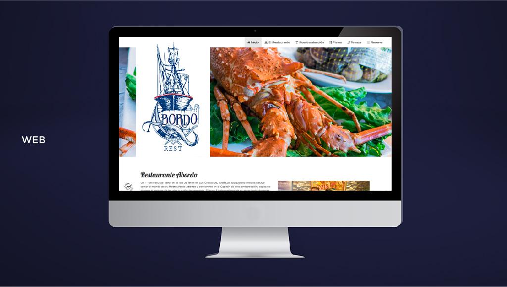 Restaurante Abordo. Diseño gráfico Tenerife, logotipo, creatividad, Más que Mapas