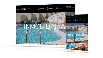 Diseño web Más que Mapas, desarrollo web Mike Fotografo, fotografía Tenerife
