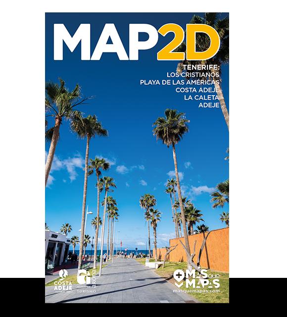 Productos Más que Mapas. Mapa 2D Los Cristianos, Tenerife