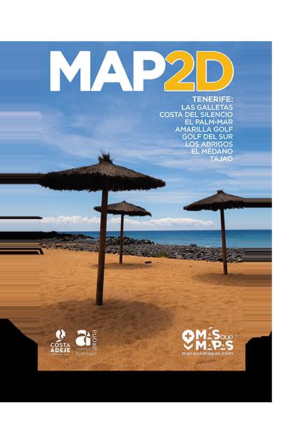 Productos Más que Mapas. Mapa 2D Las Galletas Tenerife