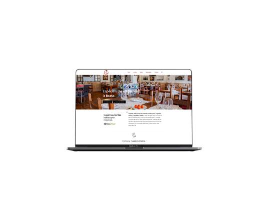 La Brasa restaurante. Diseño páginas web en Tenerife, Más que Mapas